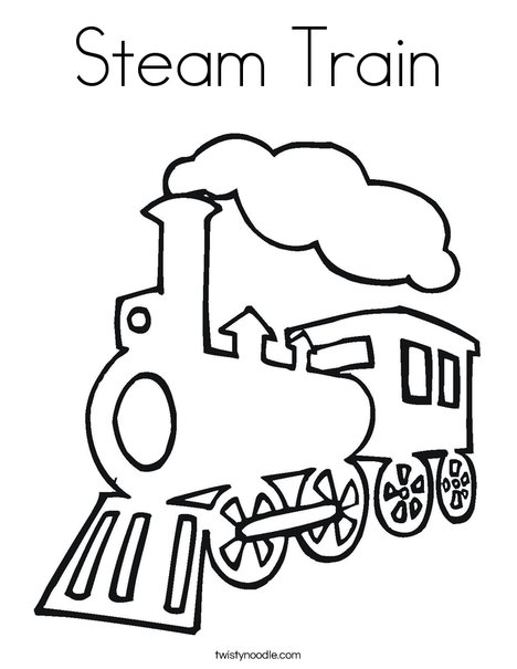 468x605 Steam Train Coloring Page