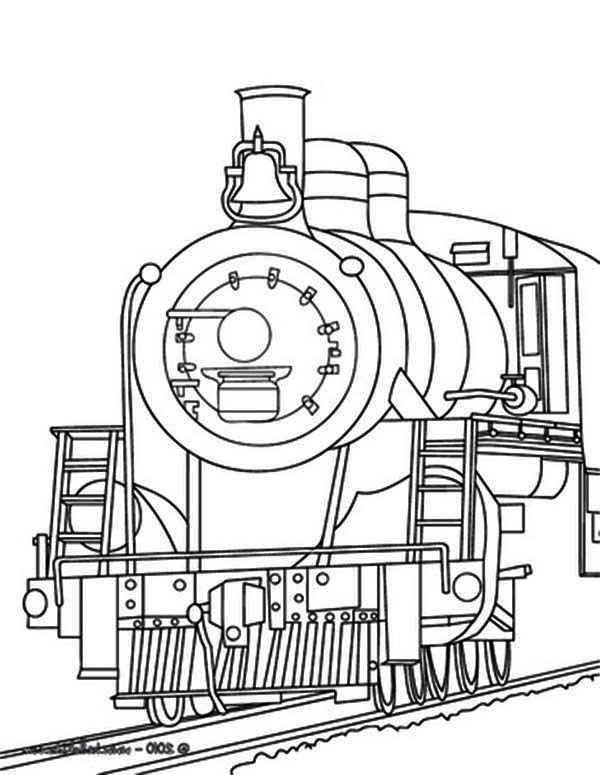 600x775 Steam Train Coloring Page For Kids