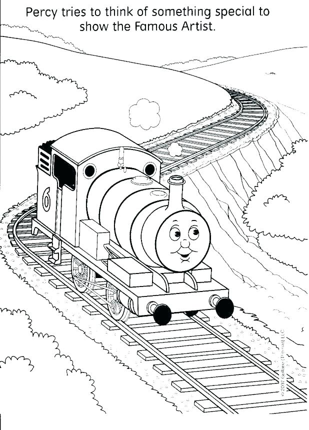 618x860 Steam Train Coloring Pages Free Printable The Train Coloring Pages
