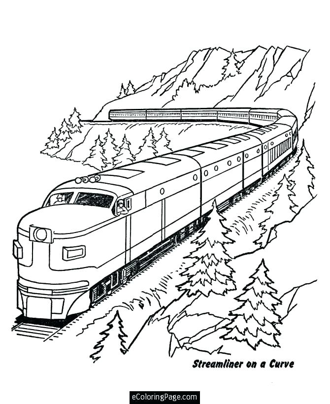 670x820 Pictures Of Trains To Color