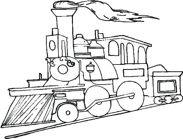 600x457 Steam Train Coloring Pages