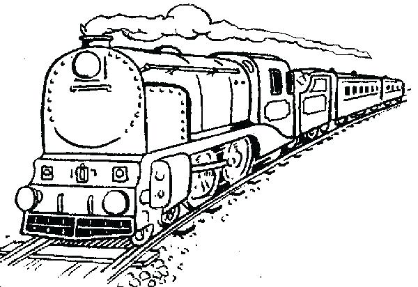 600x412 Coloring Pages Of Trains Train Free Printable Colouring Trains