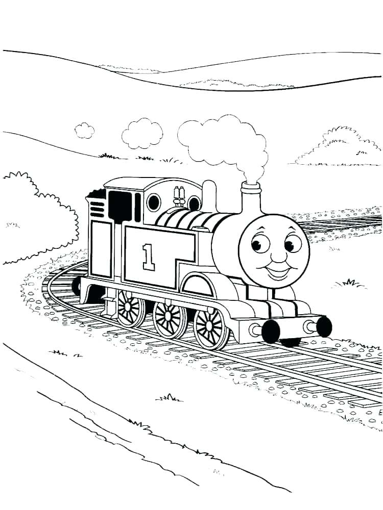 750x1000 Elegant Steam Locomotive Coloring Pages Free Download Trains