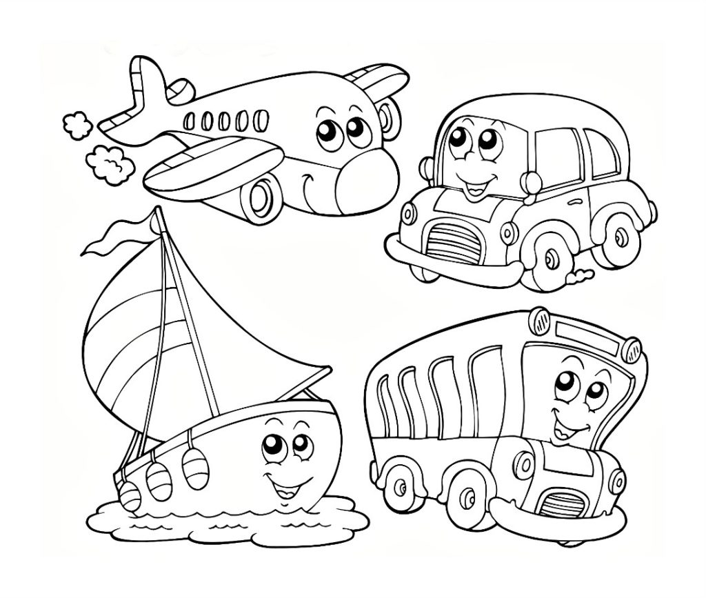 1024x867 Coloring Pages Vehicles