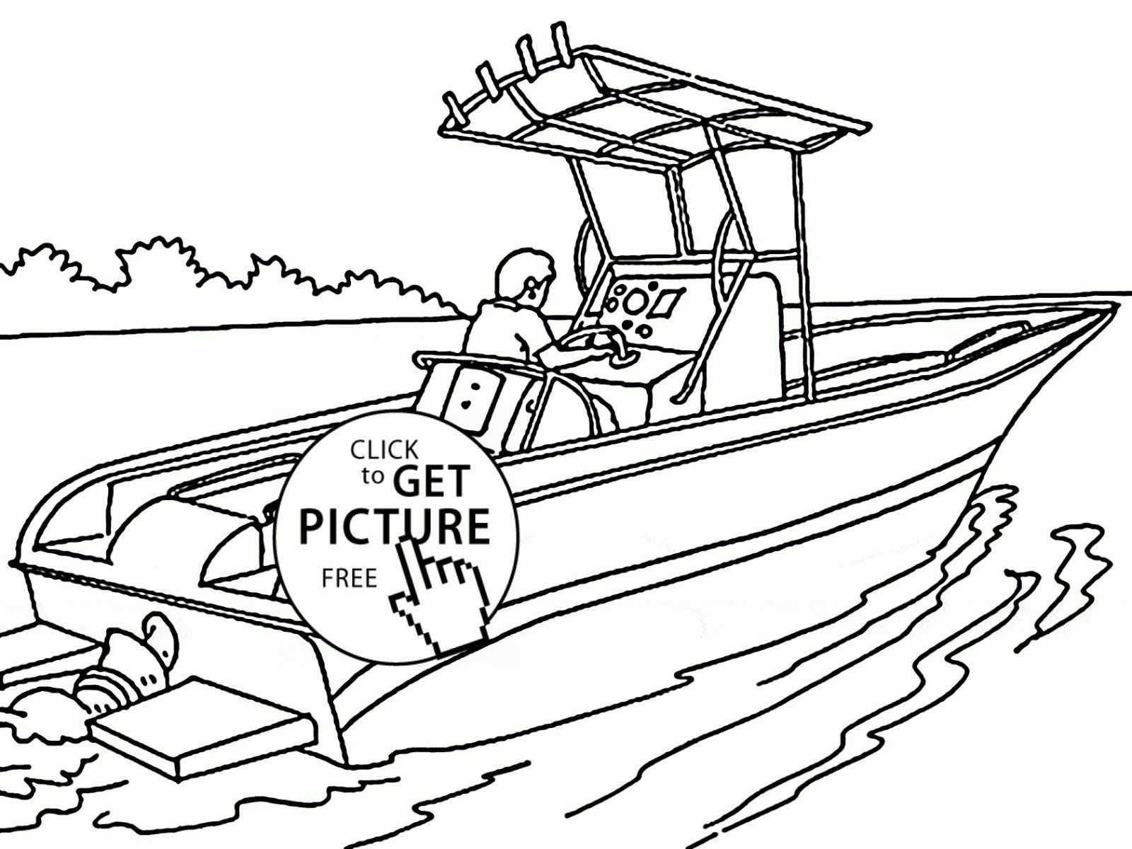 1600x1200 Fishing Boat Coloring Pages Free Printable For Kids Best Page