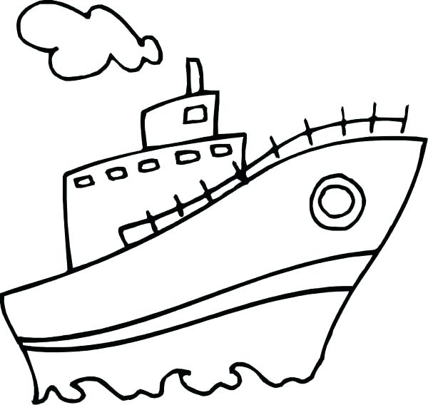 600x568 Speed Boat Coloring Pages