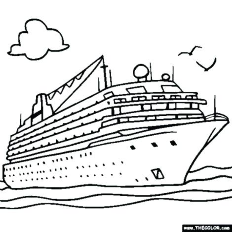 470x470 Boat Coloring Page Coloring Pages Boats Cruise Ship Coloring Pages