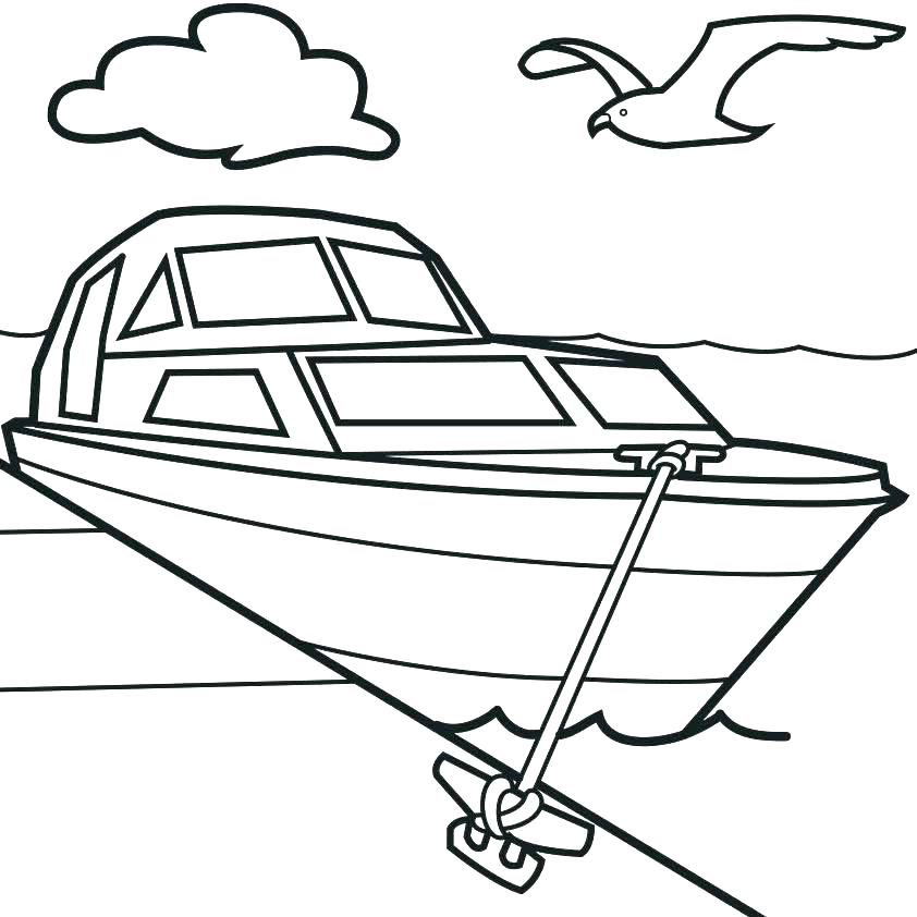 842x842 Boat Coloring Page Lighthouse Giving Sign To A Boat Coloring Pages