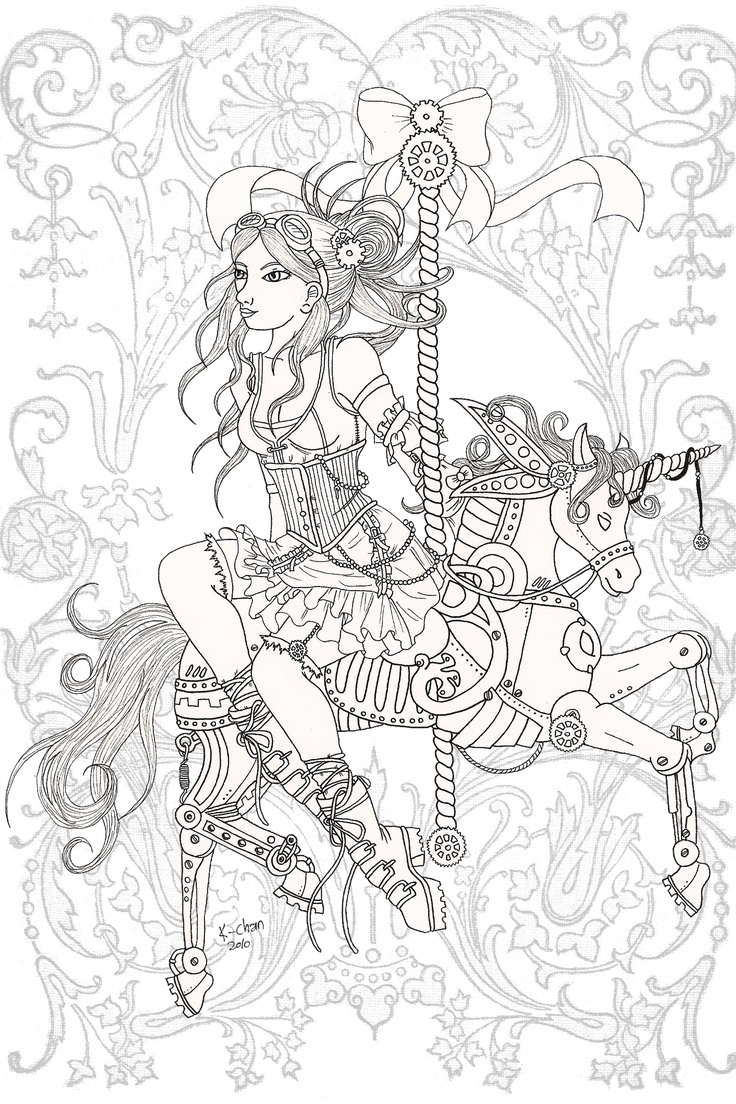 736x1104 Free Adult Steampunk Coloring Pages Printable Coloring Sheets