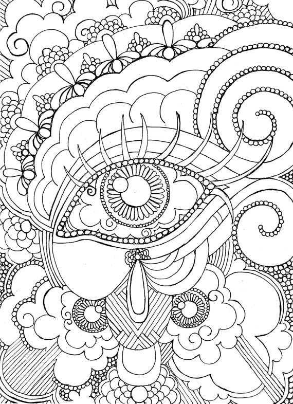 570x786 Printable Detailed Coloring Pages For Adults