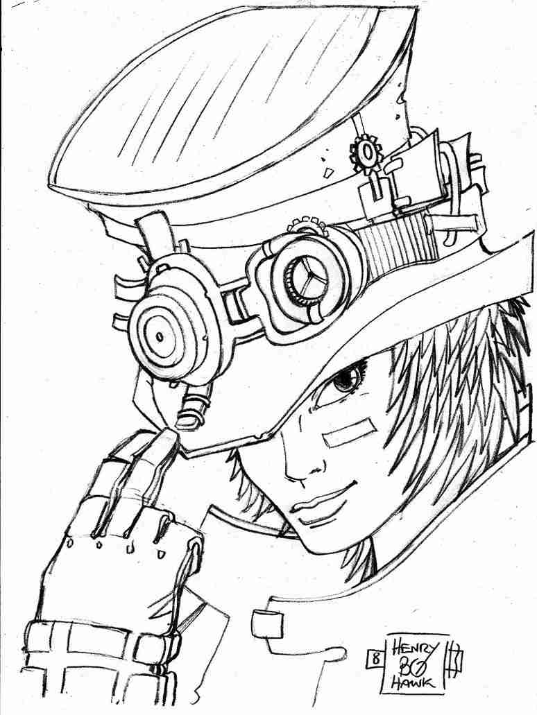 774x1031 Steampunk Coloring Pages Olegratiy