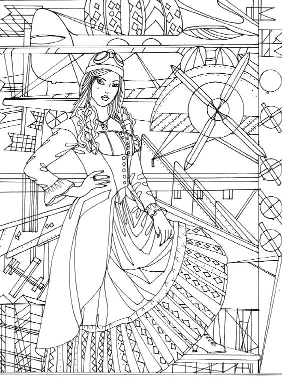 564x752 Steampunk Coloring Pages Adult Coloring Book Steampunk Coloring