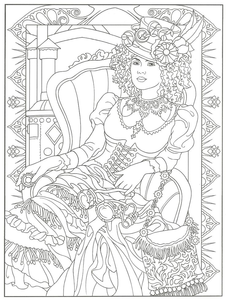 736x983 Dover Coloring Pages