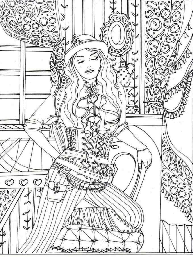 679x903 Fresh Steampunk Coloring Pages