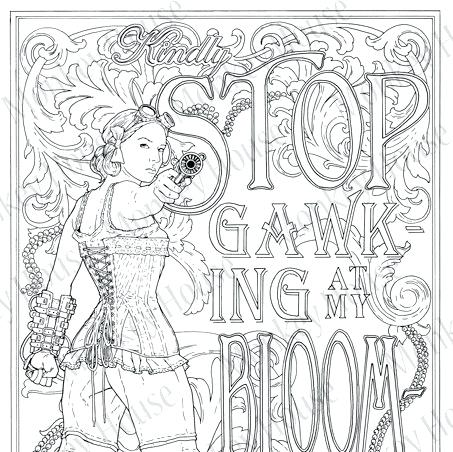 453x452 Victorian Coloring Pages Steampunk Coloring Page Stop Gawking