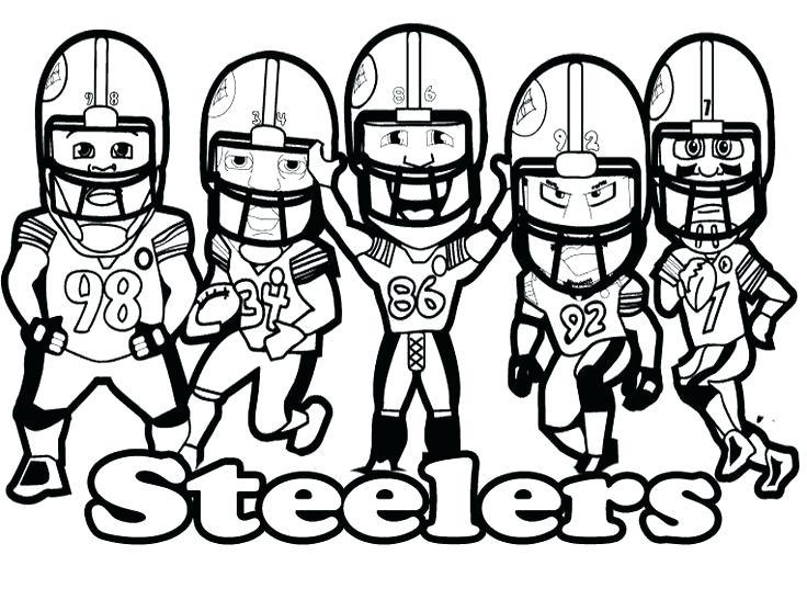 736x547 Steelers Para Colorear Coloring Page A Para Dibujos Para Colorear