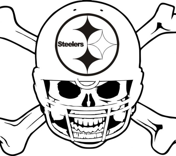 678x600 Steelers Football Coloring Pages Pittsburgh Steelers Coloring