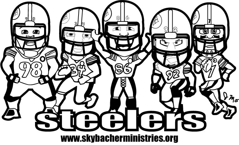 764x465 Steelers Coloring Page Gage Sophia's Pages