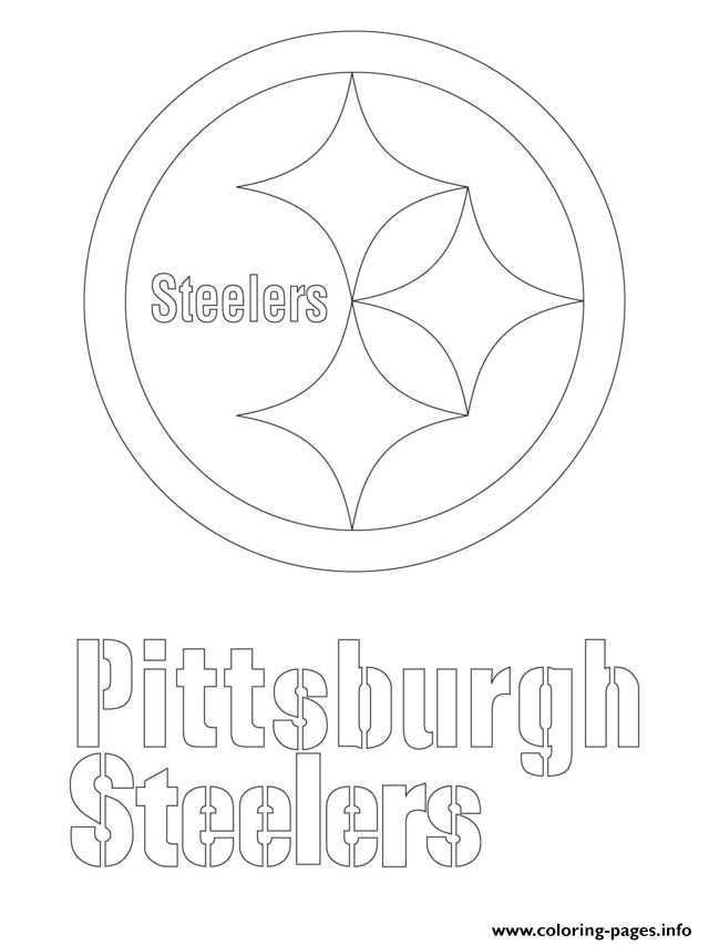 640x853 Print Pittsburgh Steelers Logo Football Sport Coloring Pages