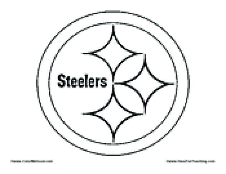 728x561 Steelers Logo Coloring Page Pittsburgh Steelers Logo Coloring