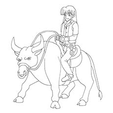 Steer Coloring Pages
