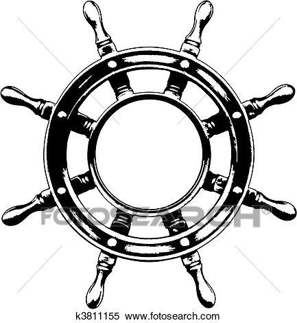 433x470 Drawn Ship Ship Steering Wheel Many Interesting Cliparts