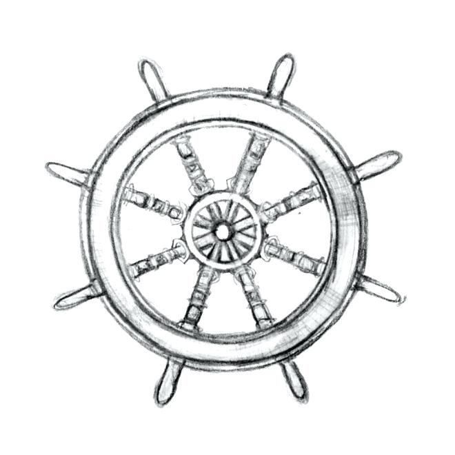 660x660 Ship Wheel Outline Ship Steering Wheel Coloring Page Ship Steering