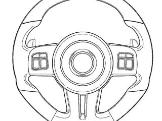 320x240 Wheel Coloring Page Car Parts Steering Wheel Coloring Pages Best