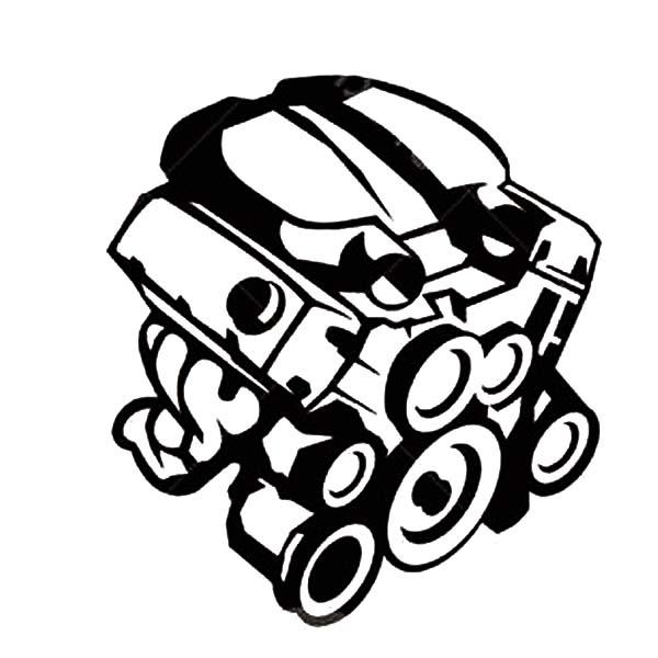 600x600 Car Parts Engine Coloring Pages Car Parts Engine Coloring Pages