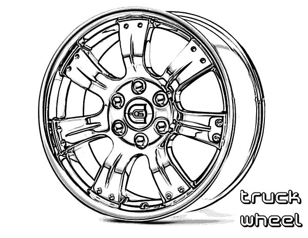 600x464 Car Parts Wheel Truck Coloring Pages Best Place To Color