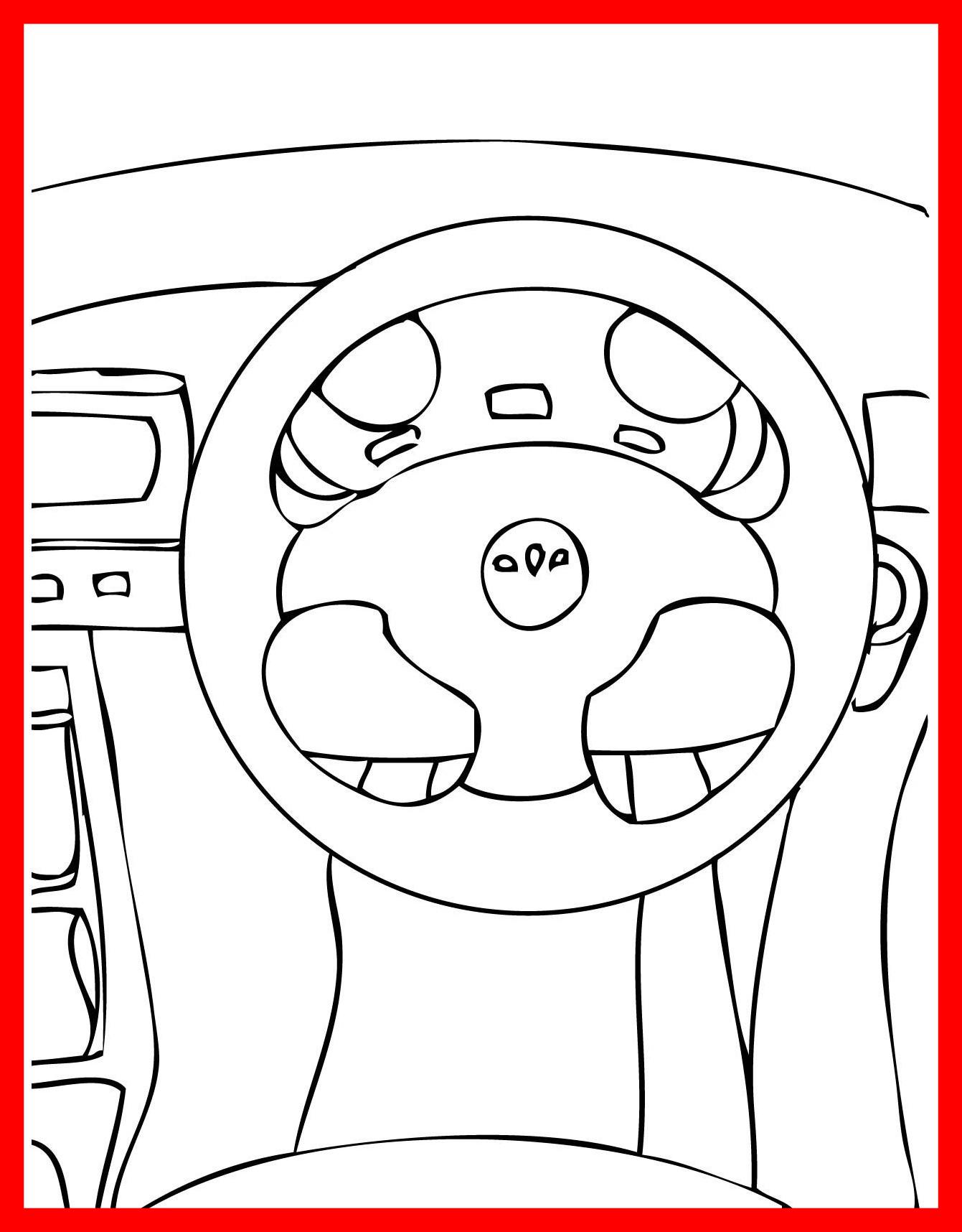 1341x1716 Car Wheel Coloring Page