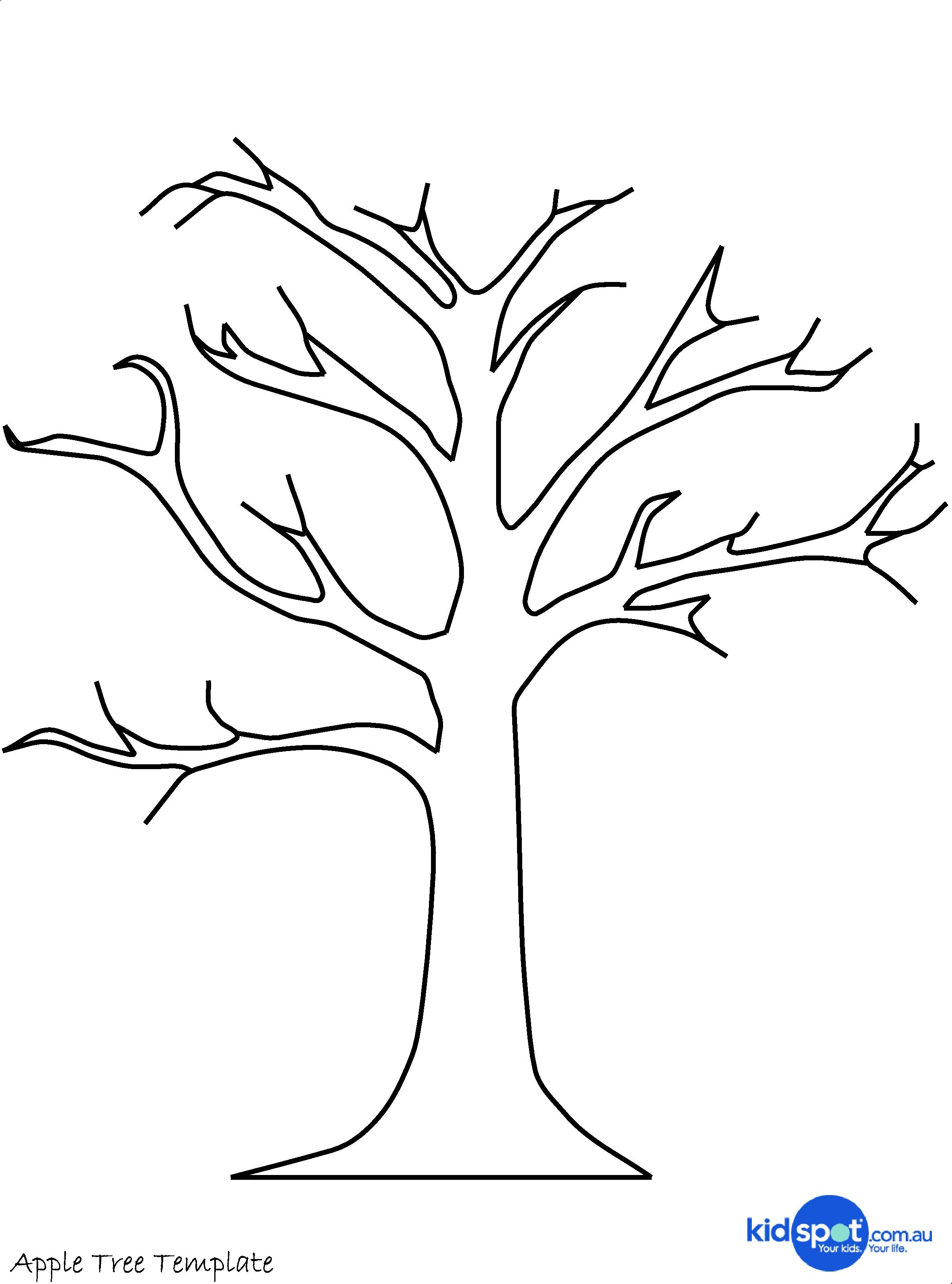 2368x3192 Tree With Few Stems Coloring Pages Printable Coloring For Kids