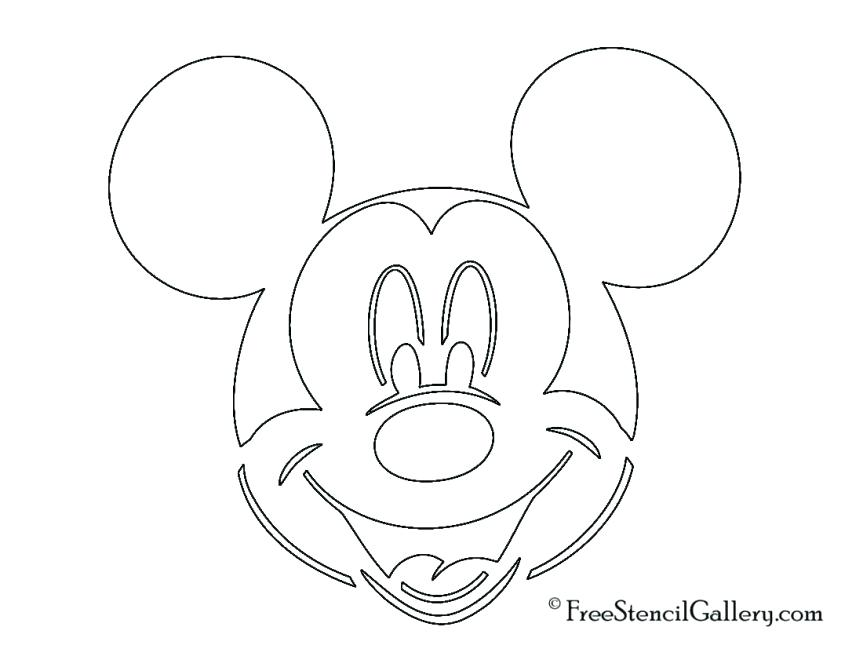 863x667 Free Mickey Mouse Stencil Head Outline Coloring Pages Coloring