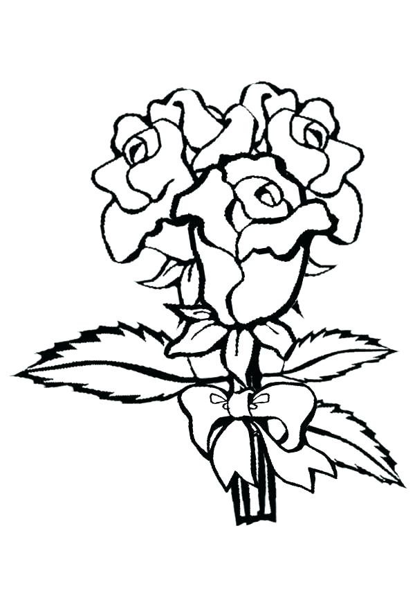 600x850 Printable Rose Petal Stencil Kids Coloring Free Printable Roses