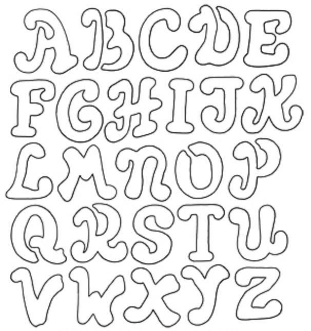 606x646 Coloring Pages Alphabet Letter Stencils Color Pages