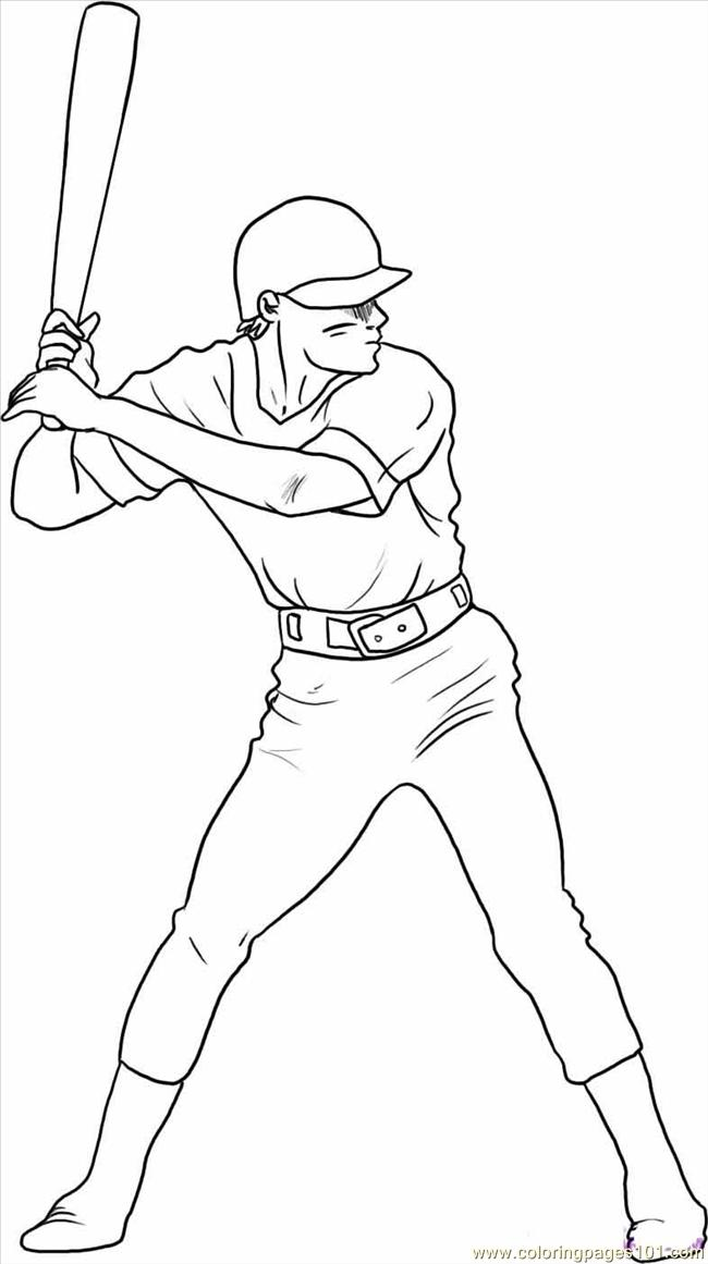 650x1161 Draw A Baseball Player Step Coloring Page