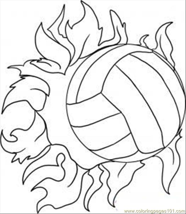 650x749 Draw A Volleyball Step Coloring Page