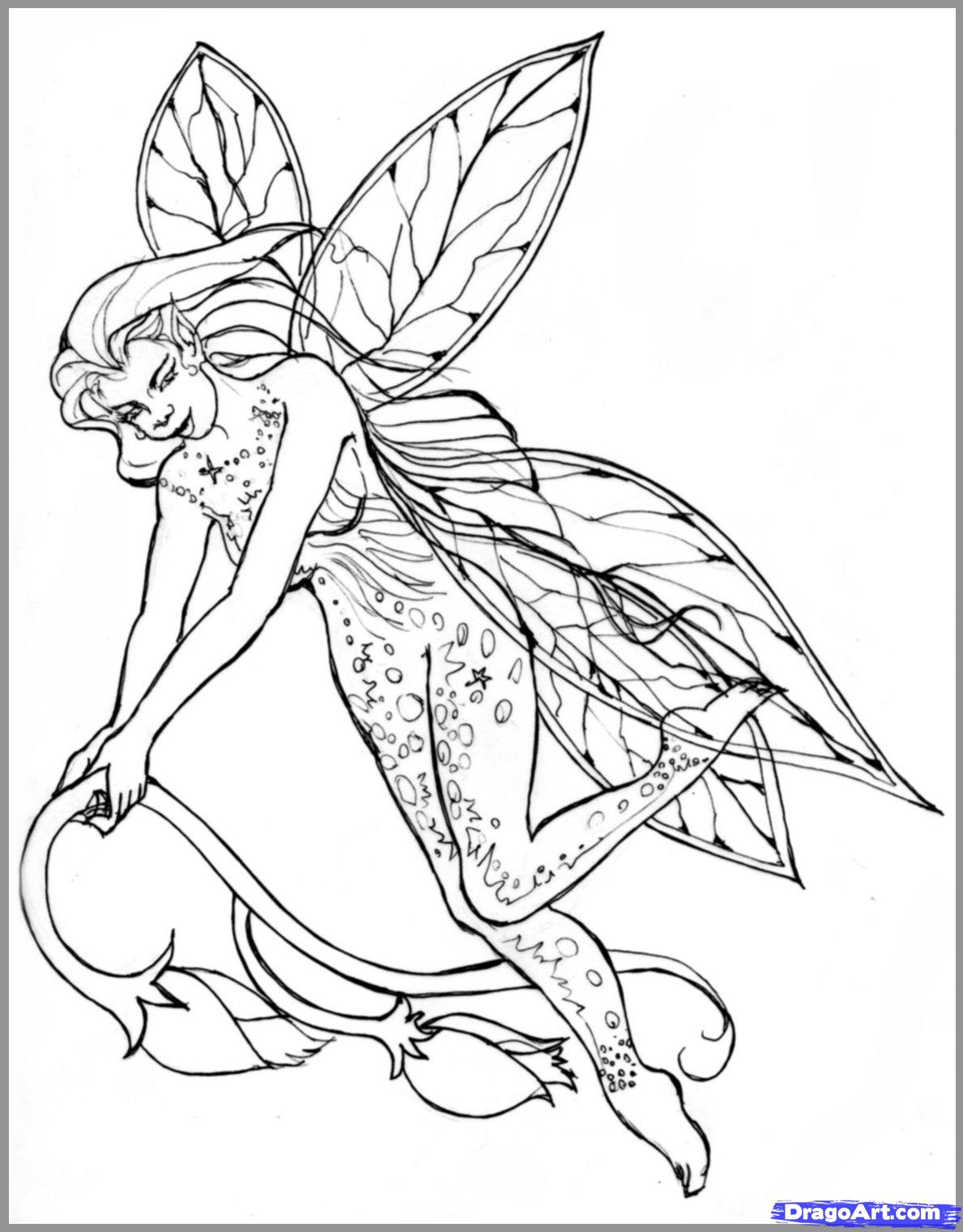 1189x1520 Value Realistic Fairy Coloring Pages How To Dr