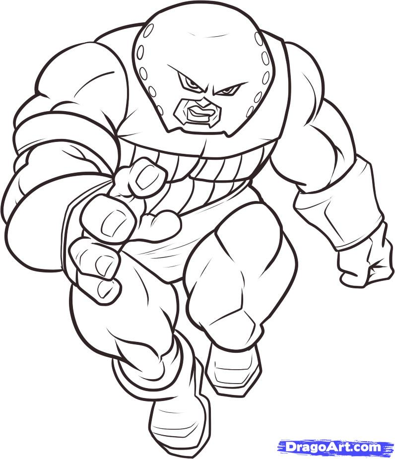 796x925 Juggernaut Coloring Pages How To Draw Juggernaut Step Step Marvel