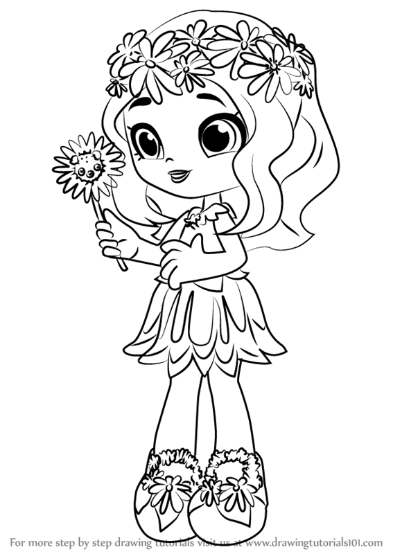 567x800 Shopkins Coloring Pages Shoppies Learn How To Draw Daisy Petals