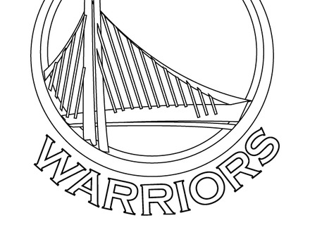 440x330 Golden State Warriors Logo Coloring Page Golden State Warriors