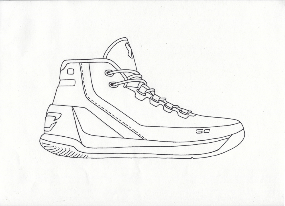 Basketball Shoes Coloring Pages - GetColoringPages.com | 722x1000