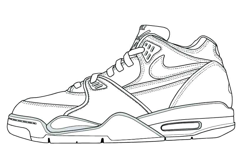 819x507 Shoes Coloring Pages Home Page S Image Gallery Sneaker Printable
