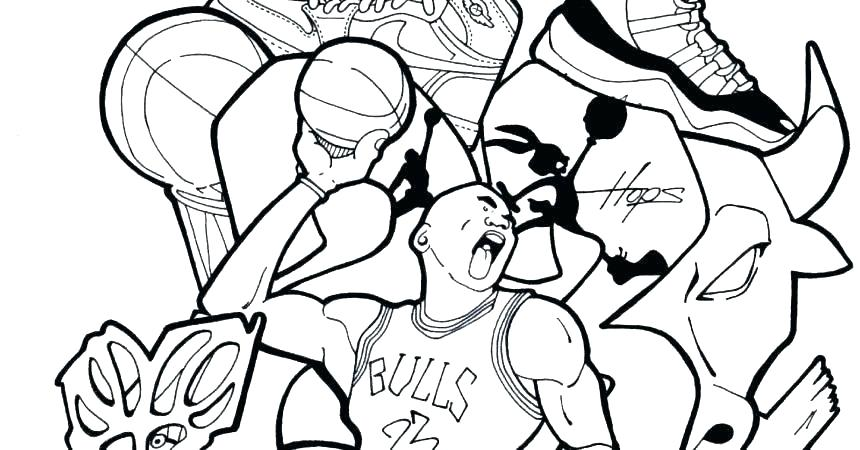860x450 Basketball Coloring Pages Basketball Coloring Pages Logos Coloring