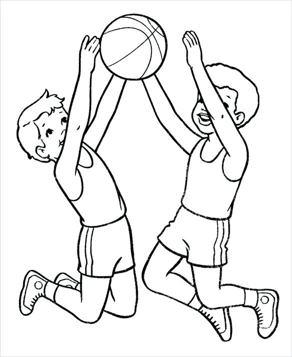 585x716 Basketball Coloring Pages Free Word Format Kids Play Basketball
