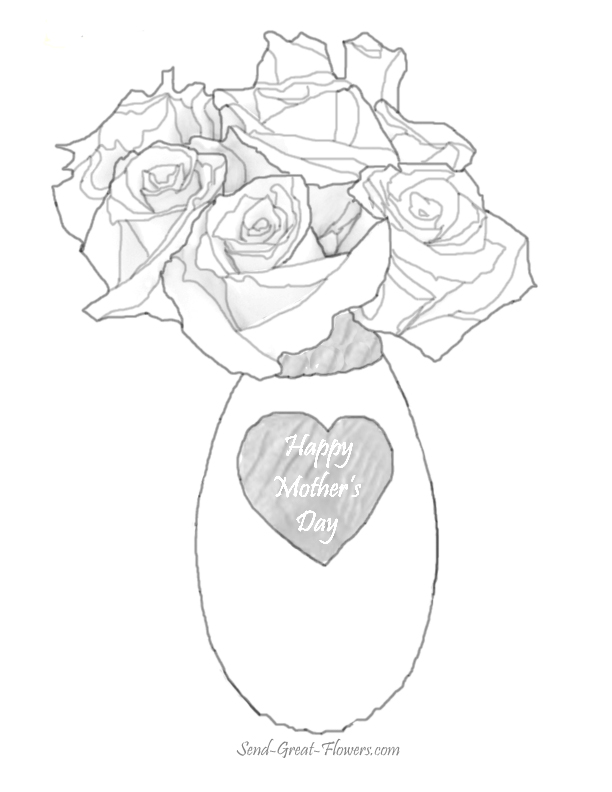 612x792 Mothers Day Flowers Coloring Pages