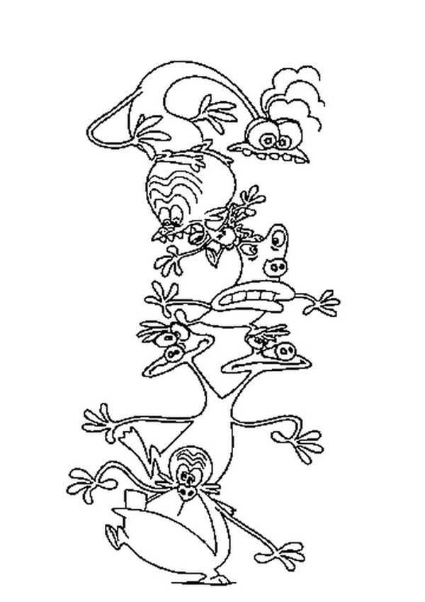 600x849 Space Goofs' Pyramid Coloring Pages