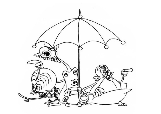 620x438 Space Goofs And An Umbrella Coloring Pages
