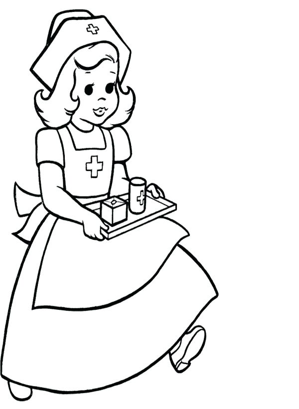 600x820 Nurse Coloring Page Nursing Coloring Book Packed With Pictures