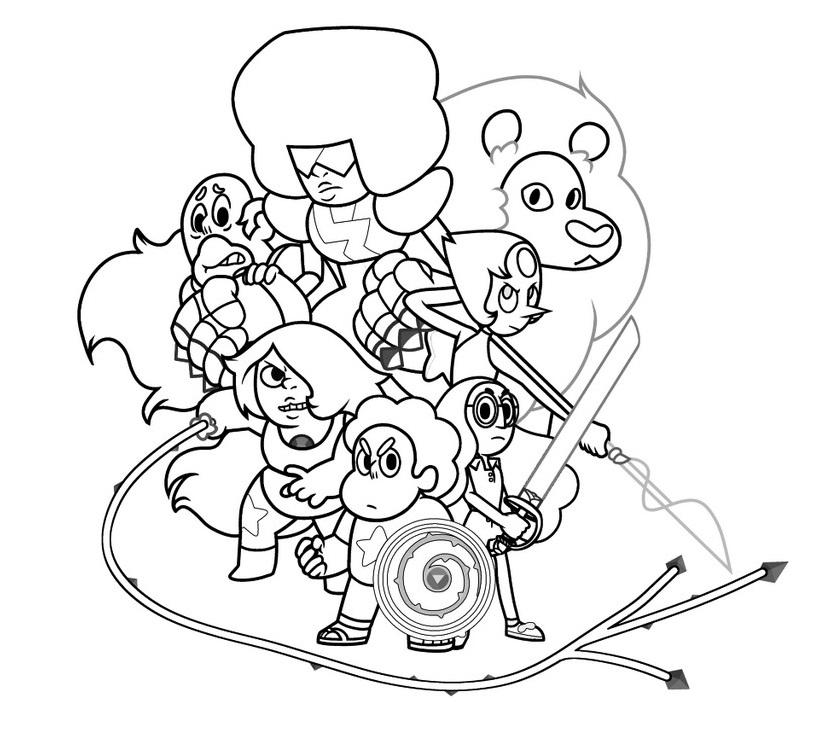 Steven Universe Coloring Pages At Getdrawings Com Free For